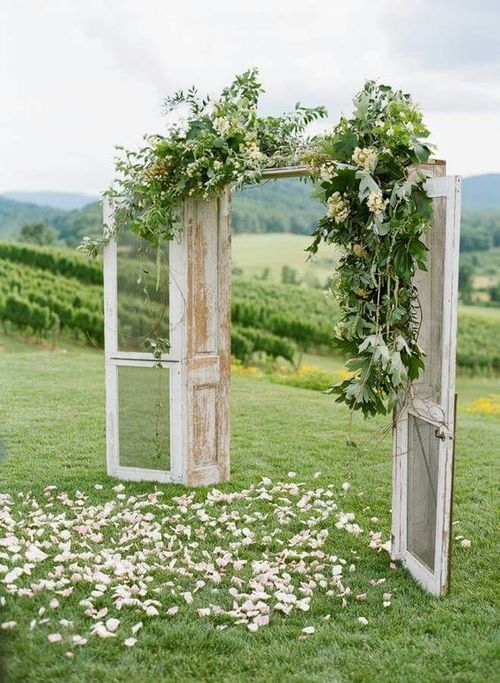 bodas al aire libre, ideas de decoración para la ceremonia