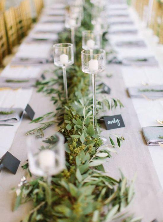 Centros de mesa para bodas rústicas mesas imperiales guirnalda